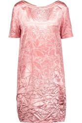 Nina Ricci Crinkled Satin Mini Dress Baby Pink