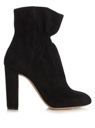 Chloe Kent Suede Ankle Boots Black