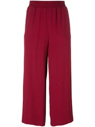 I'm Isola Marras Cropped Straight Trousers Red