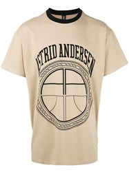 Astrid Andersen Classic Contrasting Neckline T Shirt Nude Neutrals