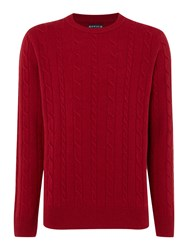 Howick Andover Cable Crew Neck Red