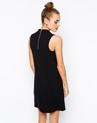 New Look Zip Back Polo Neck Tunic Black