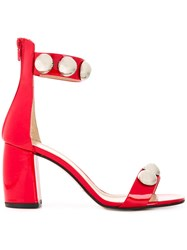 Marc Ellis Studded Sandals Red