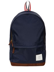 Thom Browne Soft Tech Nylon And Suede Backpack Navy