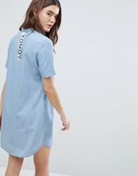 Tommy Jeans Denim Shirt Dress Blue