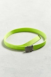 Urban Outfitters Uo Solid Long Web Belt Lime