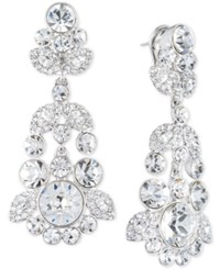 Givenchy Ornate Crystal Chandelier Earrings Silver