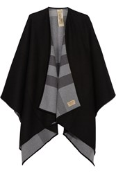 Burberry London London Reversible Checked Merino Wool Wrap Charcoal