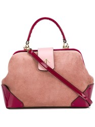 Manu Atelier Frame Tote Bag Pink And Purple