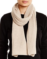 C By Bloomingdale's Ribbed Cashmere Scarf Light Oatmeal