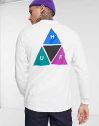 Huf Prism Tt Long Sleeve T Shirt In White