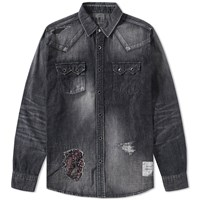 Denim By Vanquish And Fragment Remake Western Shirt Black