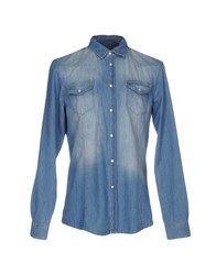Ice Iceberg Denim Shirts Blue