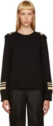 Neil Barrett Black And Gold Military Pullover
