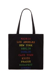Forever 21 City Graphic Tote Bag Black Multi