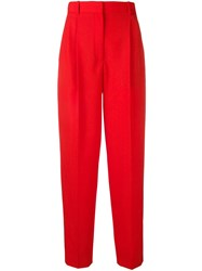 Givenchy Pleated High Rise Trousers Red