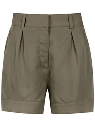 Egrey Pleated Tailored Shorts Green