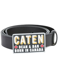 Dsquared2 'Caten' Buckle Belt Black