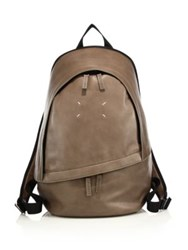 Maison Martin Margiela Clean Leather Backpack Black Mud