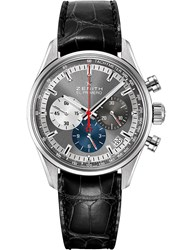 Zenith 03.2150.400 26.C714 El Primero Stainless Steel And Alligator Leather Watch