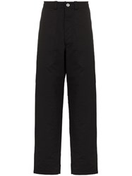 Mackintosh 0003 Relaxed Fit Cotton Trousers Black