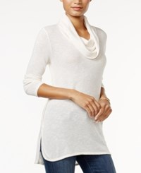 Tommy Hilfiger Olivia Cowl Neck Top Only At Macy's Snow White
