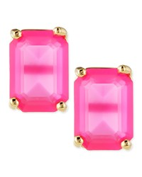 Emerald Cut Crystal Earrings Snapdragon Kate Spade New York Snap Dragon