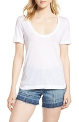 Habitual Reed Scoop Neck Tee Bright White