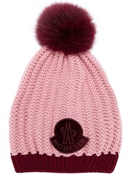 Moncler Knitted Beanie Pink And Purple