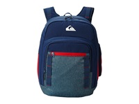 Quiksilver Schoolie Backpack Faded Denim Backpack Bags Blue