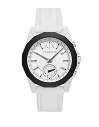 Armani Exchange Connected Drexler White Dial Silicone Hybrid Smartwatch