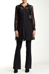 Biya Long Sleeve Lace Tunic Blouse Black