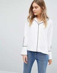 Warehouse Piped Detail Blouse Multi