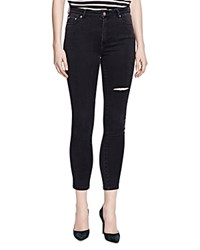 The Kooples Crop Franky Jeans In Anthracite