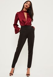 Missguided Tall Black Cigarette Trousers