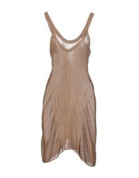Aimo Richly Short Dresses Khaki
