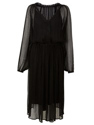 And Or Megan Midi Dress Black