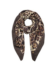 Forzieri Square Scarves Animal Print Twill Silk Square Scarf