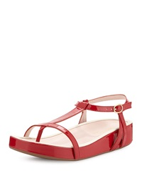 Taryn Rose Amor Patent Leather Sandal Red