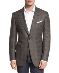 Tom Ford O'connor Base Glen Plaid Two Button Sport Coat Brown