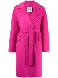 Kenzo Double Breasted Belt Coat Pink