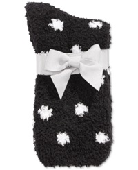 Charter Club Women's Dot Pattern Socks Only At Macy's Black