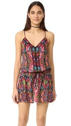 Nanette Lepore Mayan Mosaic Cover Up Dress Multi