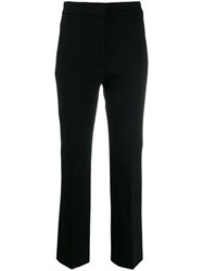 Peserico Cropped Straight Leg Trousers Black