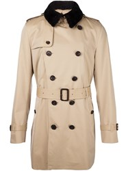 Burberry Trim Detail Trench Coat Nude And Neutrals