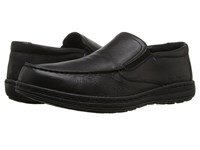 Hush Puppies Vicar Victory Black Leather 1 Men's Slip On Shoes