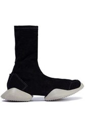 Rick Owens X Adidas Woman Stretch Suede High Top Sneakers Black