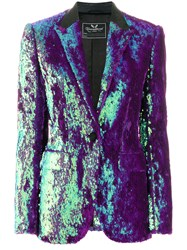 Unconditional Sequinned Blazer Jacket Pink And Purple