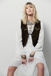 Understated Leather Studded Suede Vest