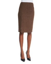 Ralph Lauren Black Label Textured Pencil Skirt Chestnut Brown